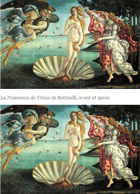Elle retouche les grandes peintures avec le style d'aujourd'hui > Creanum