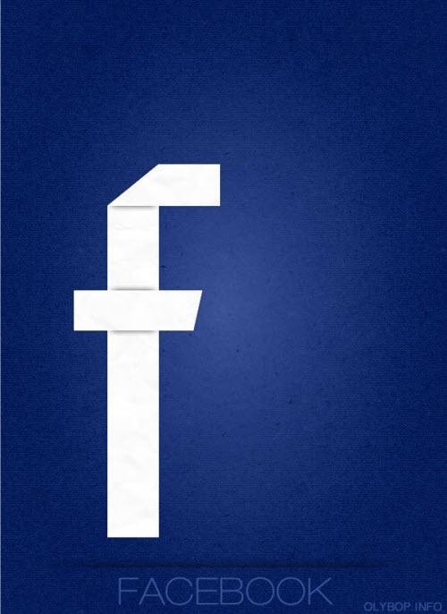 Design : les réseaux sociaux en « origami style » > Creanum