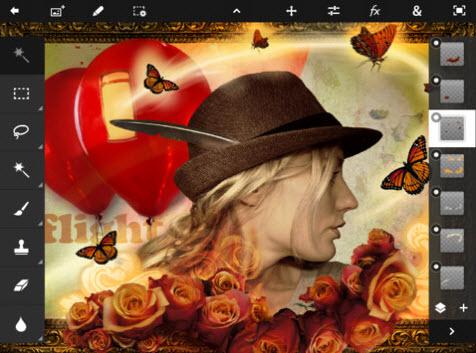Vidéo : Photoshop Touch débarque sur l'iPad > Creanum