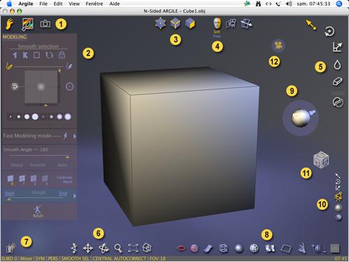 Argile : un modeleur intuitif > Creanum