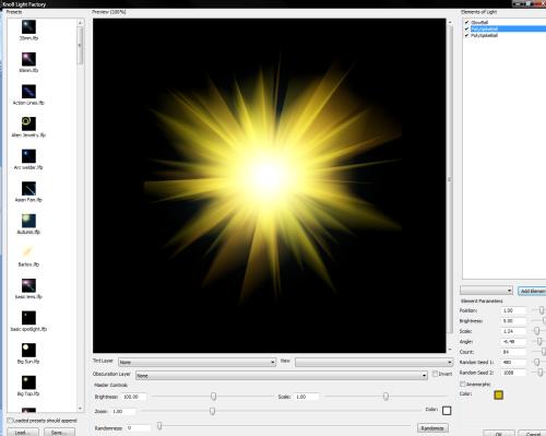 Effets de lumi�re avec Photoshop > Creanum