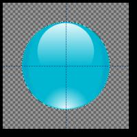 The Gimp : de la sphère au bouton... version Glassy > Creanum