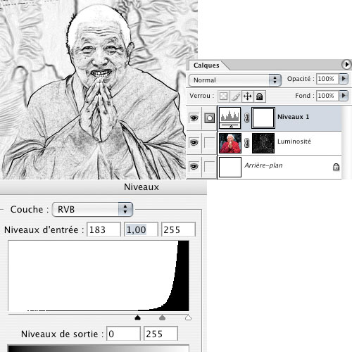 Photoshop : transformation d'une photo en dessin > Creanum