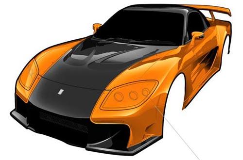 "Photoshop : voiture ""toon"" > Creanum"