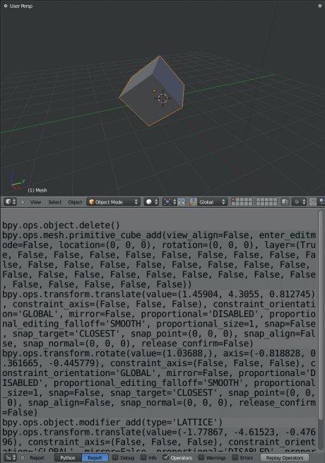 Développez vos propres outils sous BLENDER 2.5 > Creanum