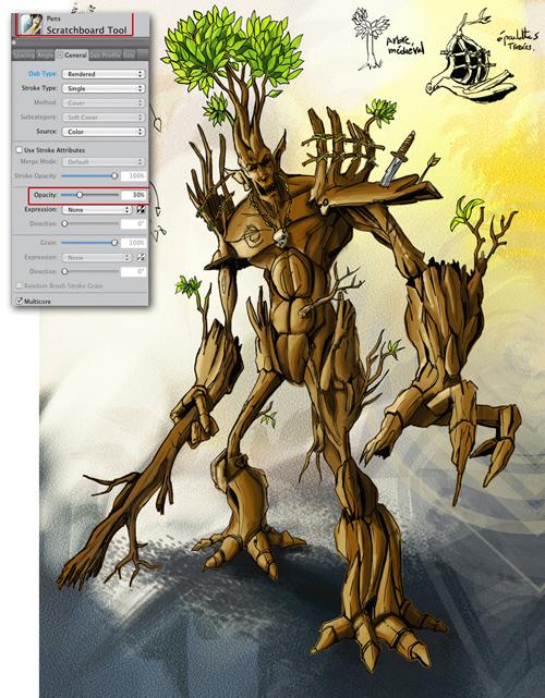 Démarrer et réaliser une illustration avec Painter 12 > Creanum