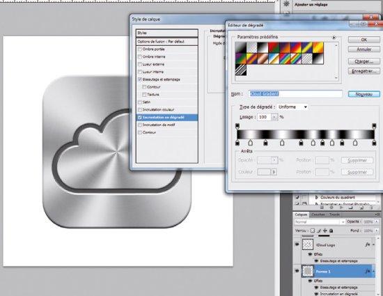 Créer l'icone iCloud > Creanum